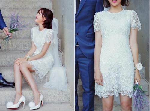 váy ren trắng