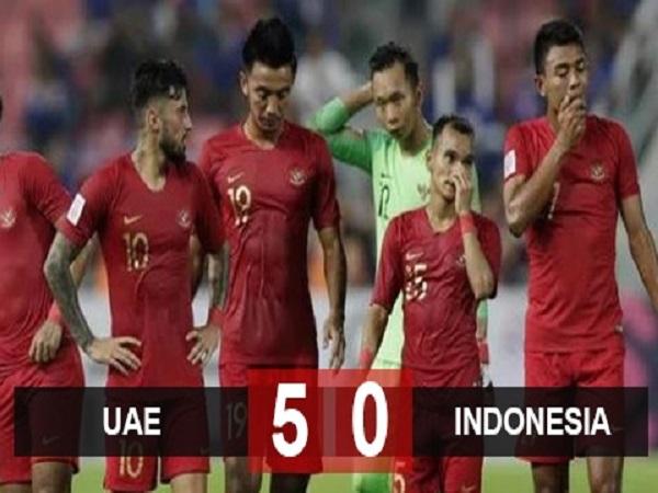 Indonesia thua đậm UAE trước khi gặp Việt Nam