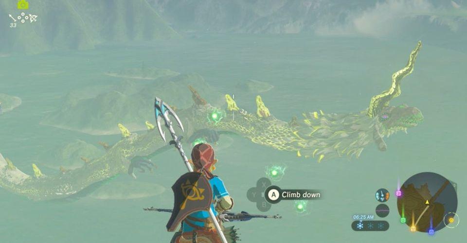 Zelda: Người chơi BOTW đi qua một con rồng kỳ lạ