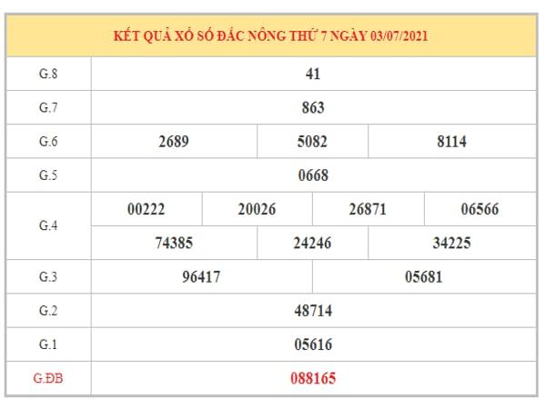 Phân tích KQXSDNO ngày 10/7/2021 dựa trên kết quả kì trước